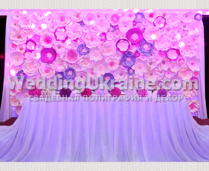 Баннер из бумажных цветов 38